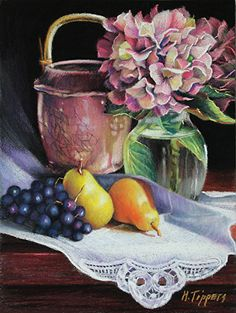 """Summer's End by Marie Tippets Pastel ~ 12"""" x 9"""""""