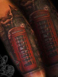 Tattoo by Tattoo Zanda 3d Tattoos, Love Tattoos, Tattoo You, Tattoo Drawings, Tattoos For Guys, Tatoos, Forearm Sleeve Tattoos, London Tattoo, Realism Tattoo