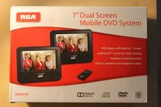 """RCA 7'' Dual Screen Mobile DVD System (DRC69707) by RCA. $94.22. This RCA Dual Screen Mobile DVD System with 7"""" color screens is the perfect road-trip companion. Each screen has a speaker and a headphone jack. It includes one remote control with battery.  Features: Chapter/Title Selection, Subtitle Selection, Widescreen, Built-In Speaker Screen Size: 7.0 """" Aspect Ratio: 16:9 Number of Headphone Jacks: 2 Media Type Compatibility: DVD, CD-R Discs, CD-R/RW Discs, CD, DVD-R, DVD..."""