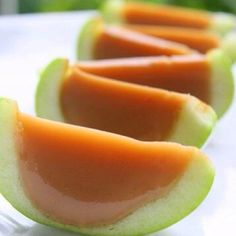 Caramel apples, what a yummy idea!