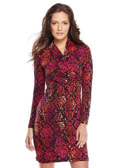 On ideel: AMELIA Printed Long Sleeve Knit Dress