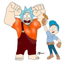 Rick and Morty x Wreck it Ralph