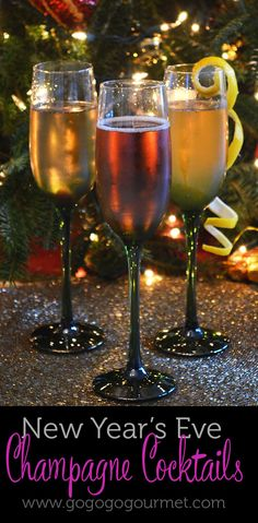 Can't have New Year's Eve without champagne! (adult holiday drinks new years) Fun Drinks, Yummy Drinks, Alcoholic Drinks, Mixed Drinks, Drinks Alcohol Recipes, Cocktail Recipes, Wine Recipes, Vodka Cocktails, Summer Cocktails