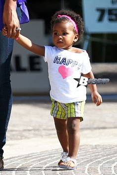 Laila Ali and cute daughter, Sydney, out shopping in Calabasas