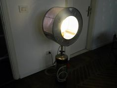Clara Rigamonti - Resurrection #upcycled washing machine drum into a light