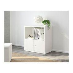 KALLAX Estantería - blanco - IKEA 30€ (mueble TV: combinar 2 dejando 1 espacio en medio + tablero madera para unirlos)