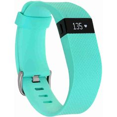 Fitbit Charge HR Activity and Heart Rate Tracker (Small) - Teal ($139) ❤ liked on Polyvore featuring jewelry, fitbit, stainless steel jewellery, buckle jewelry, stainless steel jewelry and fitbit jewelry