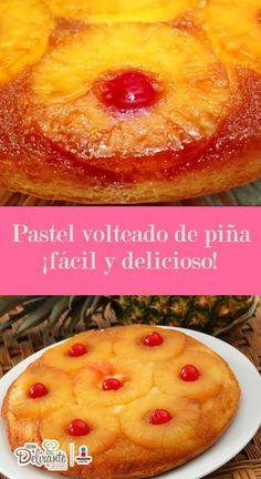 receta de pastel volteado de piña   CocinaDelirante