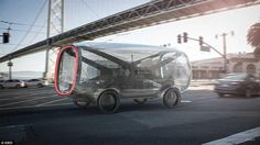 透明式コンセプトカー(Transparent concept car)。アメリカのデザイン事務所であるIdeoが発表したコンセプトカー。中が透けて見えるボディを持っていて自律的に走行しつつ職場に向かえる。自宅のガレージで充電する。