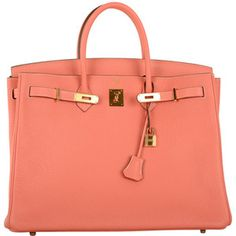 New Stunning Color Hermes Birkin Bag 40cm Crevette Gorgeous Gold Hardware