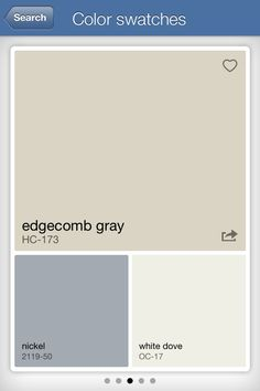 colors that go with edgecomb gray - Google Search