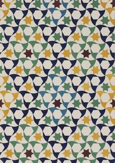 From Plans, Elevations, Sections and Details of the Alhambra, plate Owen Jones. UK, 1845 (V: From V Pattern Series II: Owen Jones published by V Publishing and Abrams Books. Islamic Patterns, Repeating Patterns, Textile Patterns, Color Patterns, Print Patterns, Textiles, Surface Pattern, Surface Design, Cute Pattern