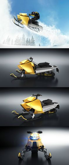 Wemotaci is a wicked looking snowmobile with a sharp form that takes inspiration from natural jagged ice. #Ice #Wemotaci #Outdoor #Sports #YankoDesign