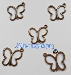 charms mariposas bronce 20mmx16mm