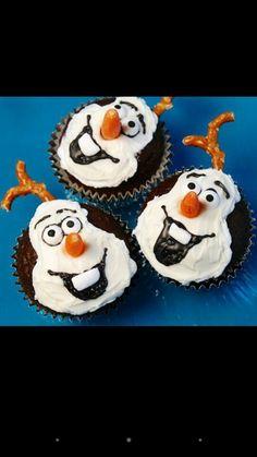 Olaf cupcake idea