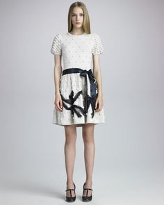 Popcorn-Knit Dress by RED Valentino at Neiman Marcus.