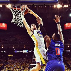 When your Splash Brother makes five 3-pointers in one quarter, here is one way to one-up him. Check out warriors.com to re-live Klay Thompson's Game 4 throwdown in all of its video, audio and GIF glory.