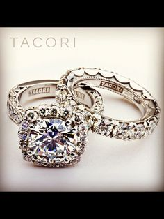 Tacori engagement rings and wedding bands are simply breath taking!