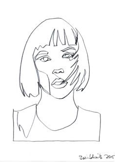 """Gaze 251″, continuous line drawing by Boris Schmitz"