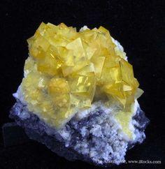 Smithsonite var. Cadmian on Galena from Tsumeb Mine, Tsumeb, Otjikoto Region, Namibia / Mineral Friends <3