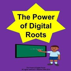 """I think one of the most important math concepts we can teach upper elementary children is the significance of digital roots!Increase children's math computation proficiency by introducing digital roots!  """"The Power of Digital Roots"""" is an informational PDF developed for those who teach upper to middle elementary school mathematics."""