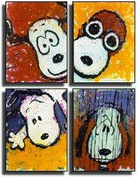 Snoopy art by Tom Everhart......Follow me & The Gang :) https://www.pinterest.com/plzmrwizard67/