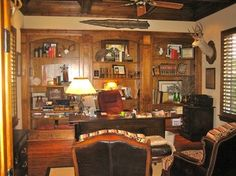 Canyon Court - rustic - home office - dallas - In Sight Designs Unlimted
