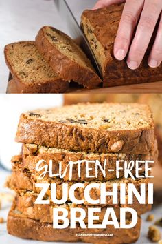 Bake up a loaf of classic gluten-free zucchini bread that s moist and delicious Simple easy recipe that makes the best breakfast treat or dessert Easy Keto Bread Recipe, Best Keto Bread, Healthy Bread Recipes, Lowest Carb Bread Recipe, Gluten Free Sugar Free Bread Recipe, Gluten Free Baking Recipes, Oat Flour Recipes, Easy Gluten Free Desserts, Diabetic Desserts
