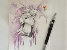 Drip-lion #illustration #inspiration #design #dribbble