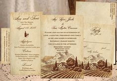Wedding invitations 1.68 each winery by designsbysheilarider
