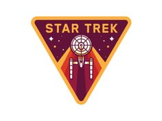 "graphicdesignblg: "" Star Trek by Nick Slater Twitter || Source "" Retro Design, Icon Design, Graphic Design, Star Trek Tattoo, Badges, Star Trek Images, Affinity Designer, Badge Design, Logo Concept"