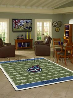 Custom-Mats by Gallant | Custom Mats - Tennessee - Tennessee Titans NFL Home Field Rug -