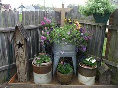 garden ideas photo: A neat primitive display pamhirt_flowers2.jpg