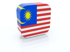 Rectangular icon. Flag of Malaysia