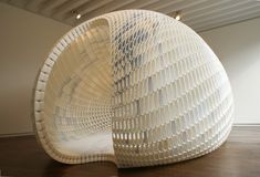 michiel van der kley project egg Dutch Design Week 2014 Eindhoven (The… Parametric Architecture, Parametric Design, Architecture Design, Architecture Visualization, Temporary Architecture, Organic Structure, 3d Printed Objects, Eindhoven, 3d Prints