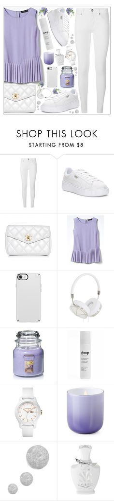 """""""style"""" by lena-volodivchyk ❤ liked on Polyvore featuring Burberry, Puma, Chanel, Banana Republic, Speck, Frends, Yankee Candle, Juice Beauty, Lacoste and Jonathan Adler"""