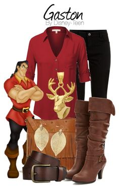 Gaston by disney-teen on Polyvore featuring polyvore, fashion, style, J.TOMSON, Forever 21 and Olsenboye