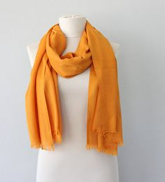 Pashmina scarf Dark yellow shawl Pashmina wrap by ViolasBoutique