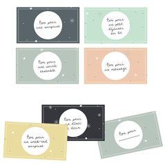 Les petits bons à offrir - Vie de Miettes Free Printable Tags, Printable Planner, Free Printables, Cadeau Surprise, Gift Wraping, Diy Advent Calendar, Christmas Inspiration, Mini Albums, Diy Gifts