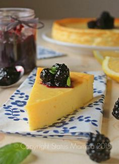 44 - Ricotta Cheesecake - hero in front/berries/jam My Favorite Food, Favorite Recipes, Patisserie Sans Gluten, Lemon Party, Torte Cake, Eat Dessert First, Cakes And More, Creative Food, Italian Recipes