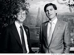 Two Americans that forever changed the world - Bill Gates and Steve Jobs 1985