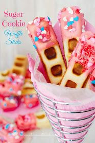 The Sweet Chick: Sugar Cookie Waffle Sticks//or Snickerdoodle? Waffle Stick Pan Recipe, Waffle Sticks, Waffle Maker Recipes, Waffle Pops, Waffle Bar, Crepes, Cookie Recipes, Dessert Recipes, Breakfast Recipes