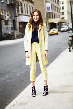 there's that neon houndstooth suit. cool. NYC.
