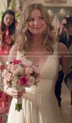 Emily's wedding dress on Revenge.  Outfit Details: http://wornontv.net/48874/ #Revenge