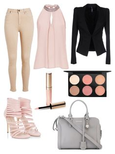 """""""#52 Business Beauty"""" by maddygrove ❤ liked on Polyvore featuring Vera Mont, Alexander McQueen, Liviana Conti, MAC Cosmetics and By Terry"""