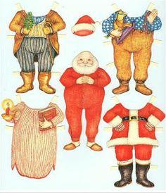 Bonecas de Papel: Casal Noel