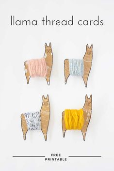 Adorable llamas to hold your yarn/embroidery scraps and it's a free printable! :D From Picot Pals. Llama granny squares from … Paper Embroidery, Cross Stitch Embroidery, Embroidery Patterns, Crochet Patterns, Peyote Patterns, Crochet Afghans, Crochet Blankets, Crochet Stitches, Yarn Crafts