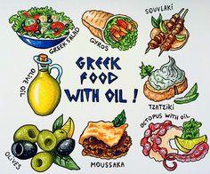 "404 Gostos, 16 Comentários - Ekaterina (@alexkipnis) no Instagram: ""The sixth theme in the marathon is Greek cuisine. And oil is the main ingredients. Καλή σας όρεξη…"""