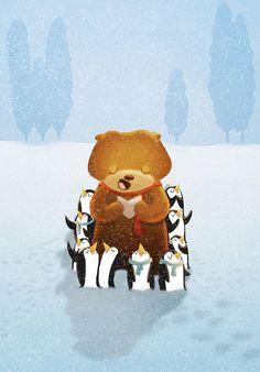 插画师Nidhi Chanani充满爱与温暖的童趣美式插画