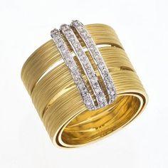 Brumani, gold and diamonds ring